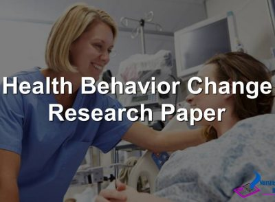 Health Behavior Change Research Paper